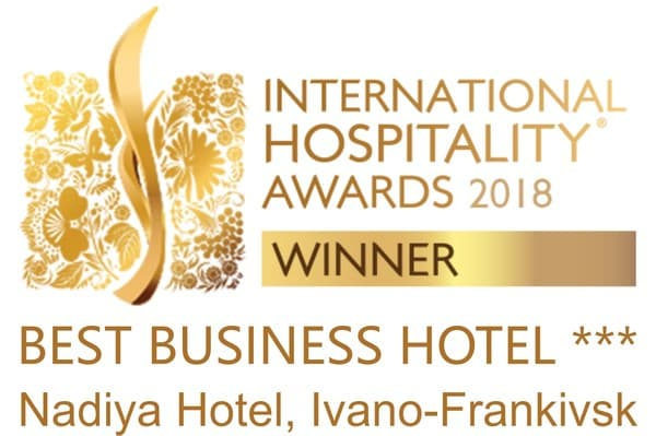 "Hotel ""Nadiya"" has been recognized as the best 3* business hotel in Europe!"